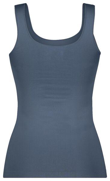 dameshemd naadloos micro middenblauw middenblauw - 1000022962 - HEMA