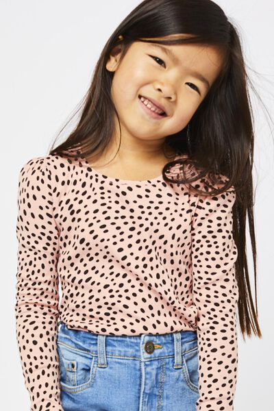 kinder t-shirt rib animal roze 110/116 - 30830975 - HEMA