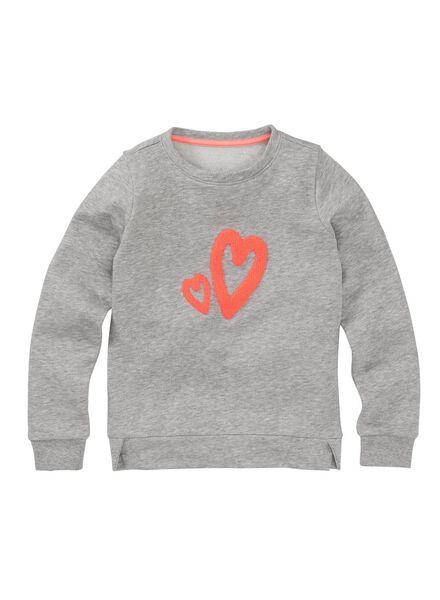 kindersweater middengrijs middengrijs - 1000010169 - HEMA