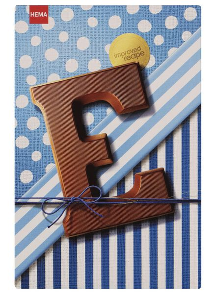 chocoladeletters melk - 160 gram melk - 1000016872 - HEMA