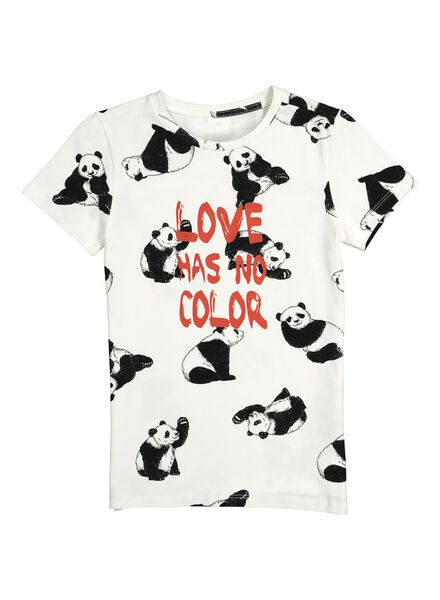 kinder t-shirt - Bananas&Bananas wit/zwart 86/92 - 30840854 - HEMA