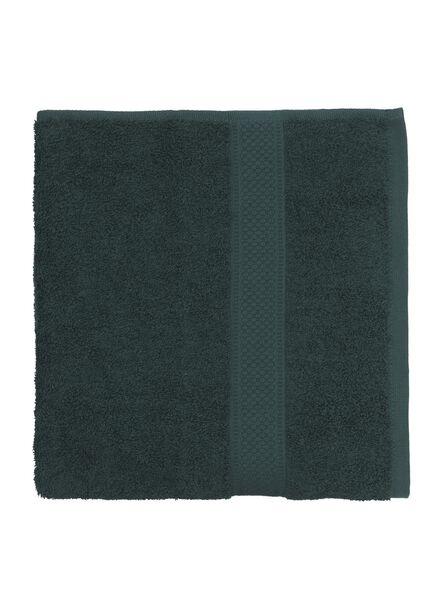 handdoek - 60 x 110 cm - zware kwaliteit - donkergroen - 5220014 - HEMA