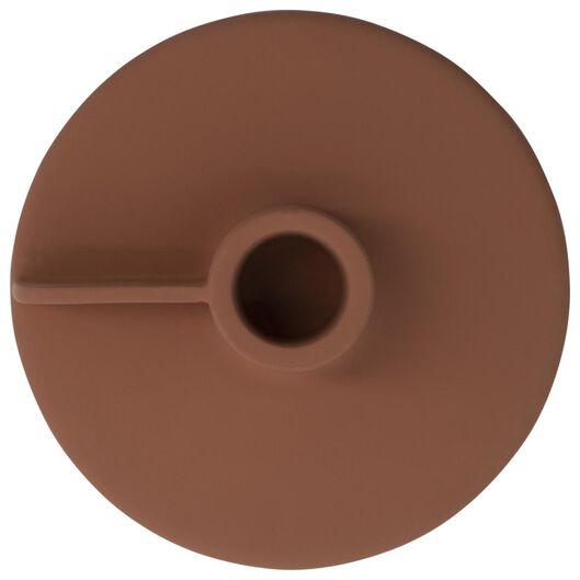 kandelaar voor kaars/sfeerlicht Ø11x5 metaal terra - 13322033 - HEMA