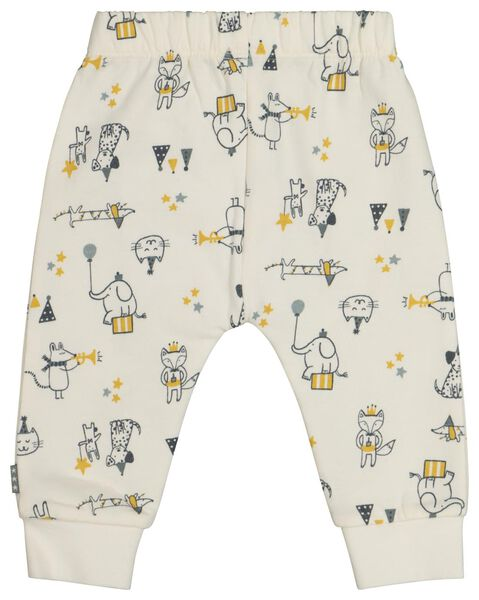 newborn sweatbroek circus wit 56 - 33441632 - HEMA