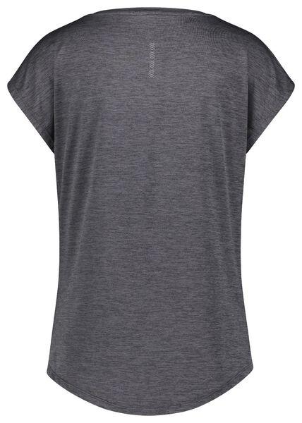 dames sport t-shirt mesh grijsmelange XXL - 36080475 - HEMA