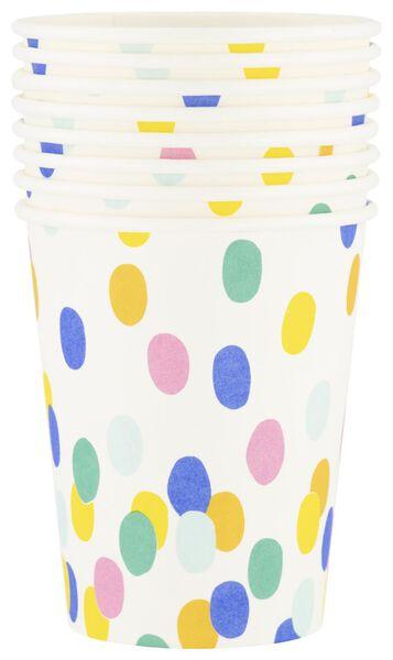 papieren bekers - 250 ml - confetti - 8 stuks - 14200284 - HEMA
