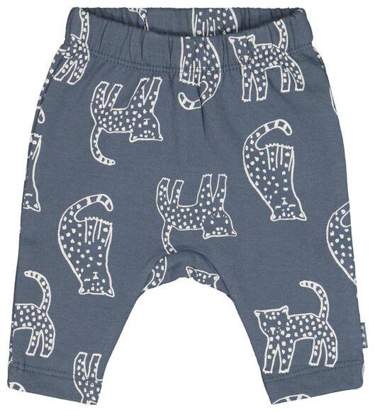newborn-prematuur sweatbroek tijger donkerblauw donkerblauw - 1000022137 - HEMA