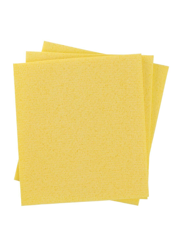 HEMA 3 pak Sponsdoekjes (geel)