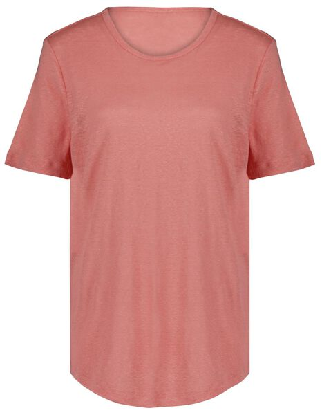 dames t-shirt linnen roze - 1000024253 - HEMA