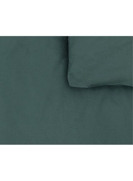 dekbedovertrek - zacht katoen - 240 x 220 cm - donkergroen uni - 5750054 - HEMA