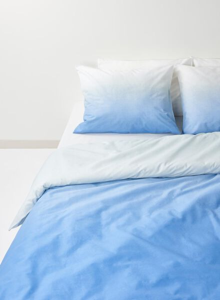 dekbedovertrek - zacht katoen - 240 x 220 cm - blauw - 5700155 - HEMA