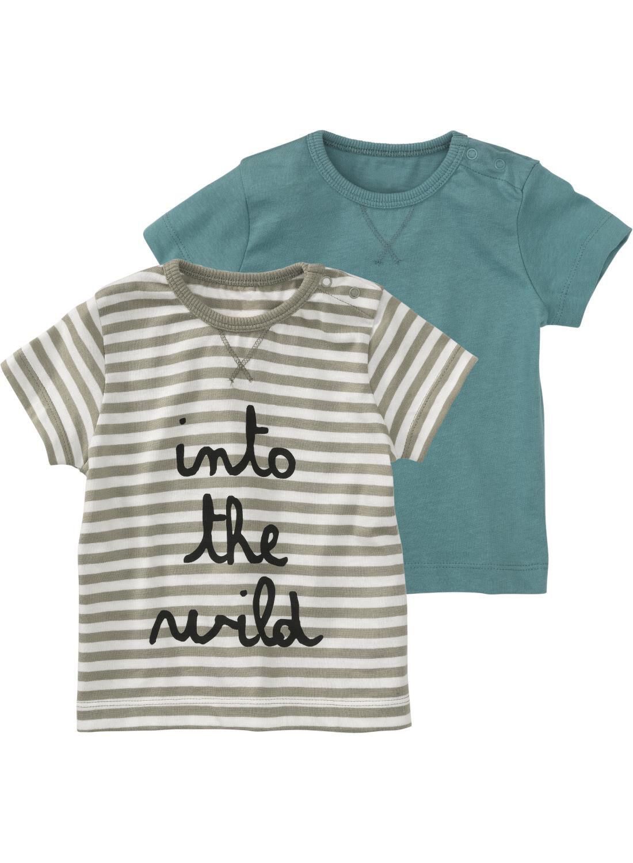 HEMA 2-pak Baby T-shirts Blauw (blauw)
