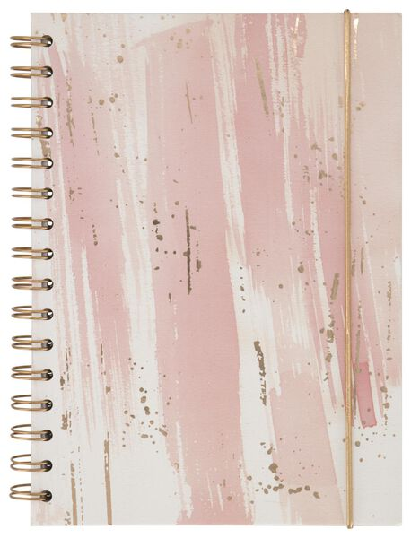 Notitieboek A5 gelinieerd roze - in Notitieboeken
