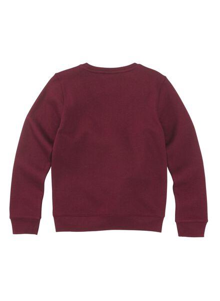 kindersweater donkerrood donkerrood - 1000010209 - HEMA