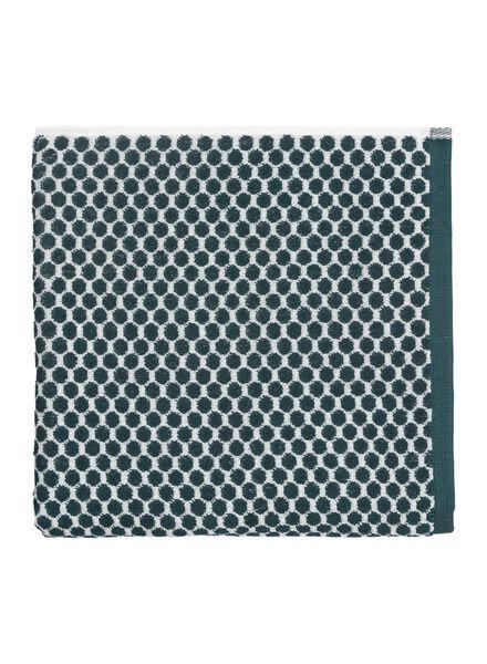 handdoek - 70 x 140 - zware kwaliteit - groen stip - 5210031 - HEMA