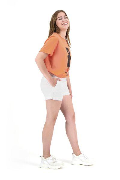 dames t-shirt Siepie kater komt later koraal koraal - 1000019666 - HEMA