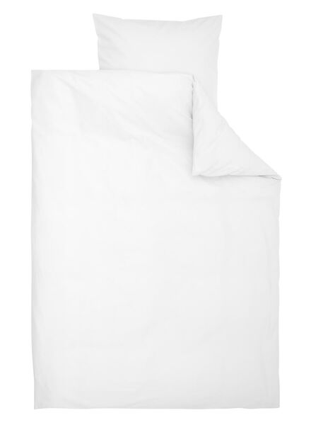 dekbedovertrek - zacht katoen - 140 x 200/220 cm - wit - 5700169 - HEMA