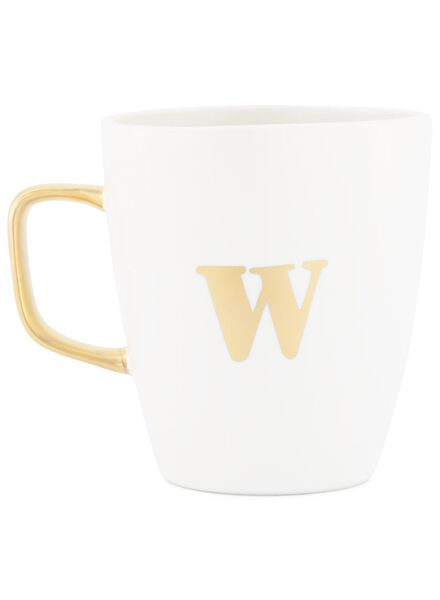 mok letter w wit W - 60030072 - HEMA