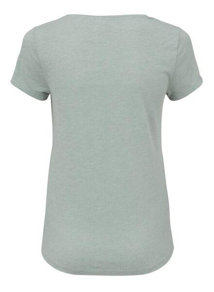 dames t-shirt zeegroen - 1000008452 - HEMA