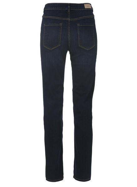 dames jeans straight leg donkerblauw donkerblauw - 1000011821 - HEMA