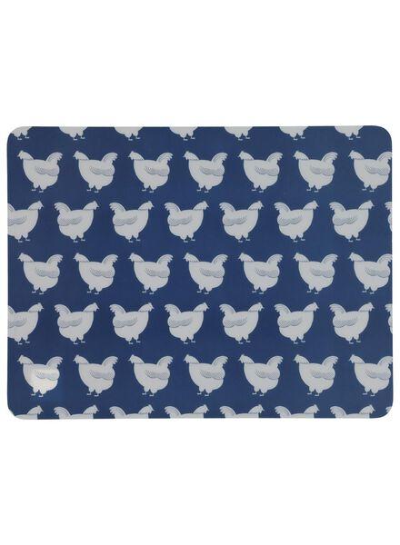 placemat - 32 x 42 - kunststof - blauw kippen - 5300065 - HEMA