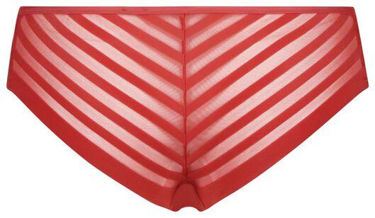 damesbrazilian micro mesh middenrood XL - 19629925 - HEMA