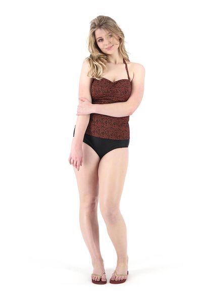 dames bikinislip high waist medium control recycled zwart S - 22340271 - HEMA