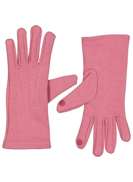 dameshandschoenen touchscreen roze roze - 1000015617 - HEMA