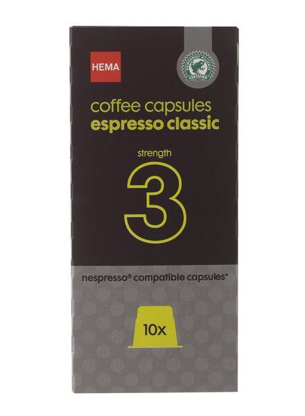 koffiecups espresso classic - 10 stuks - 17130002 - HEMA