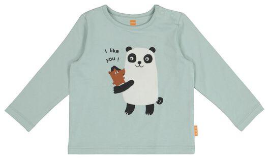 newborn t-shirt blauw 50 - 33425931 - HEMA
