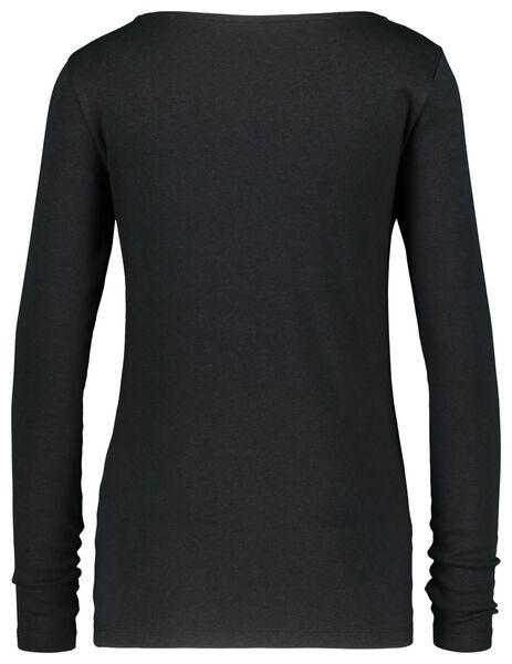 dames t-shirt boothals zwart zwart - 1000021160 - HEMA