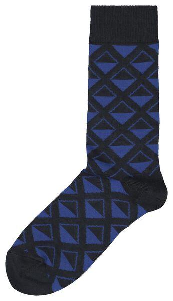 herensokken ruit donkerblauw donkerblauw - 1000020390 - HEMA