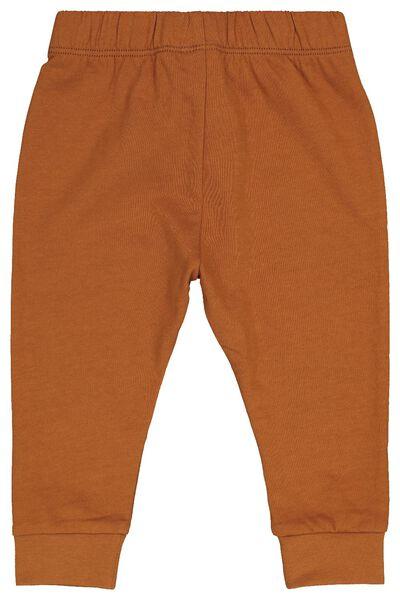 baby sweatbroek bruin bruin - 1000020594 - HEMA