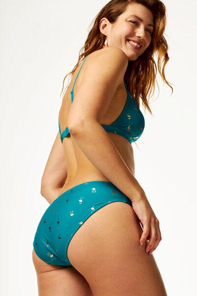 dames bikinibroekje - flamingo groen XL - 22350535 - HEMA