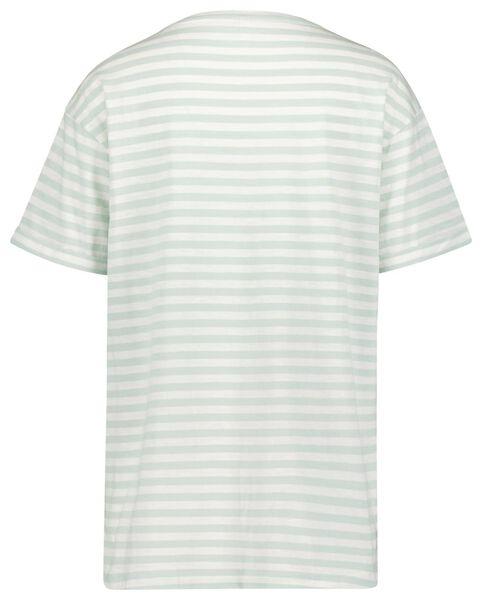 dames t-shirt strepen lichtgroen XL - 36370484 - HEMA