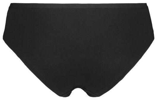 3-pak dameshipsters katoen zwart zwart - 1000006534 - HEMA