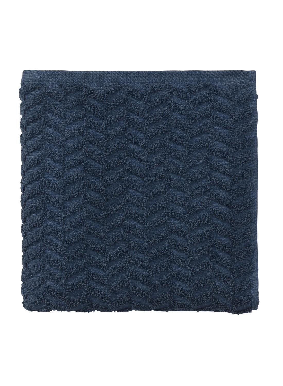 HEMA Baddoek Zware Kwaliteit 50 X 100 - Jeans Blauw (bleu foncé)