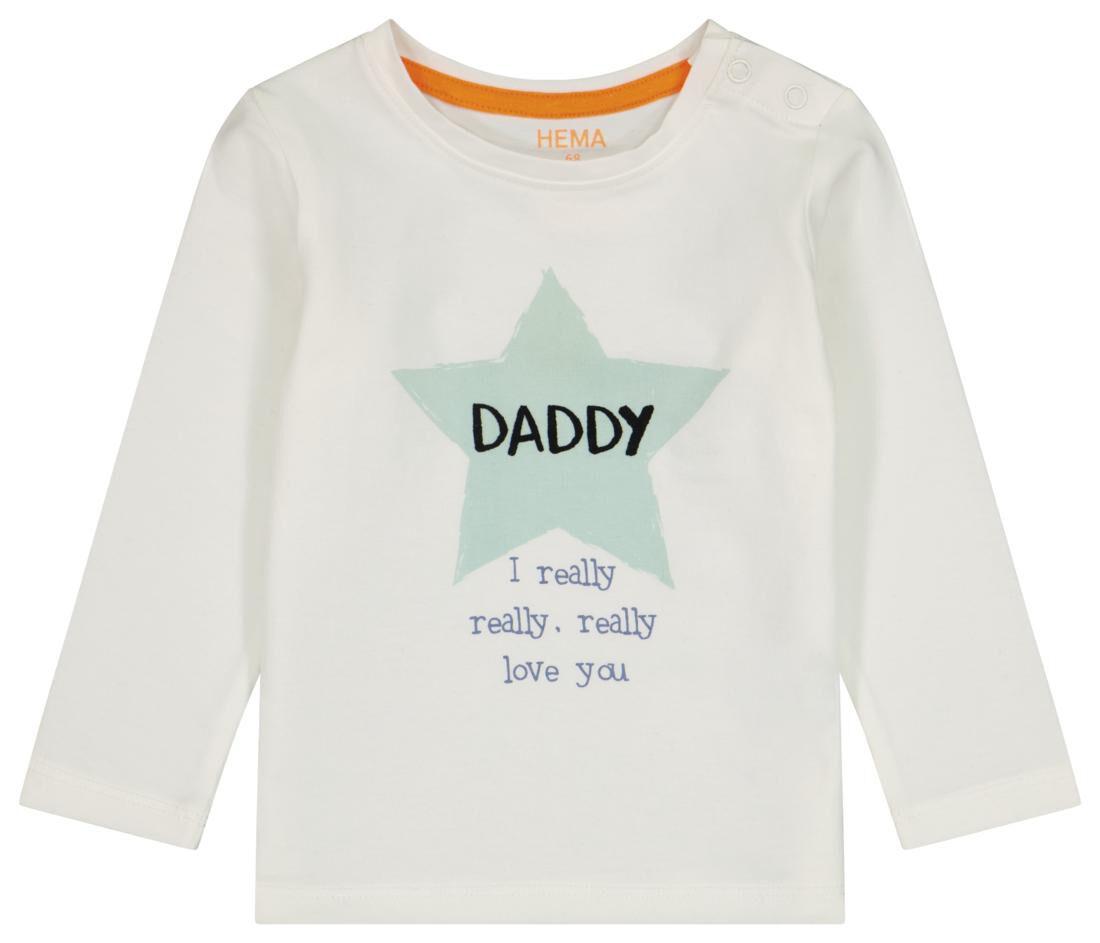 HEMA Newborn T-shirt Daddy Gebroken Wit (gebroken wit)