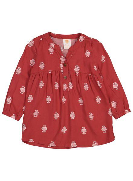 babyjurk rood 74 - 33097303 - HEMA