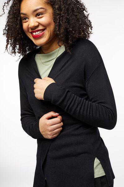 damesvest zwart zwart - 1000023505 - HEMA