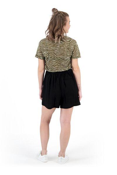 dames t-shirt olijf - 1000019515 - HEMA