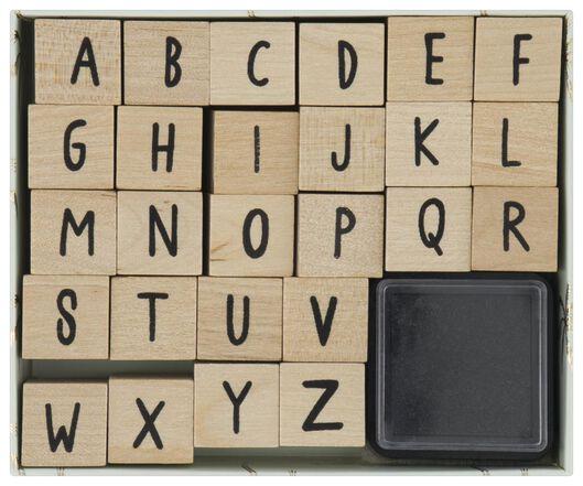 stempelset alfabet - 14800021 - HEMA