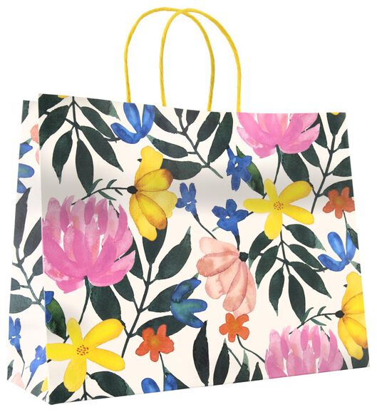 cadeautas 24x31x11 bloemen - 14700489 - HEMA