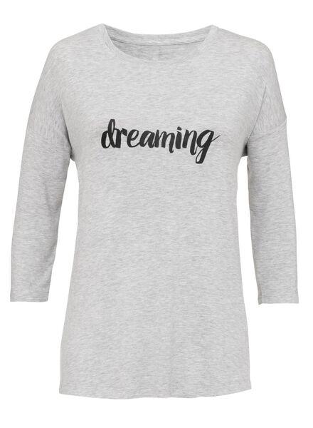 dames nacht t-shirt grijsmelange - 1000002892 - HEMA