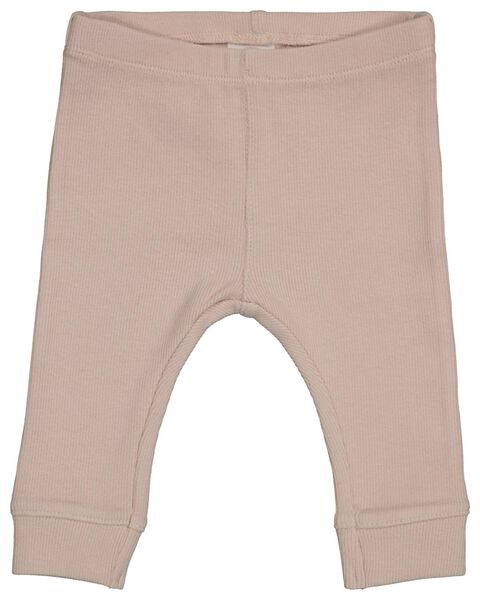 newborn rib legging organic katoen stretch roze 68 - 33426514 - HEMA