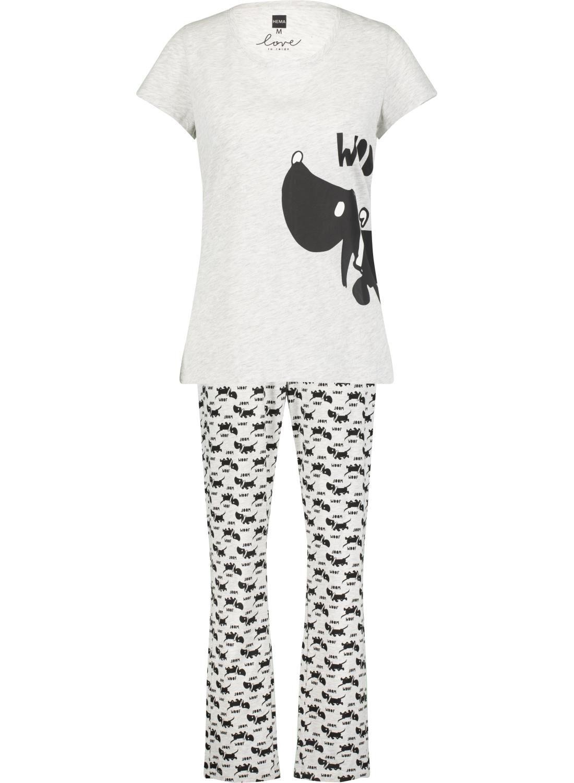 HEMA Dames Pyjama Takkie Lichtgrijs (lichtgrijs)