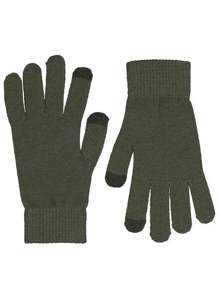 dameshandschoenen recycled touchscreen groen groen - 1000017194 - HEMA