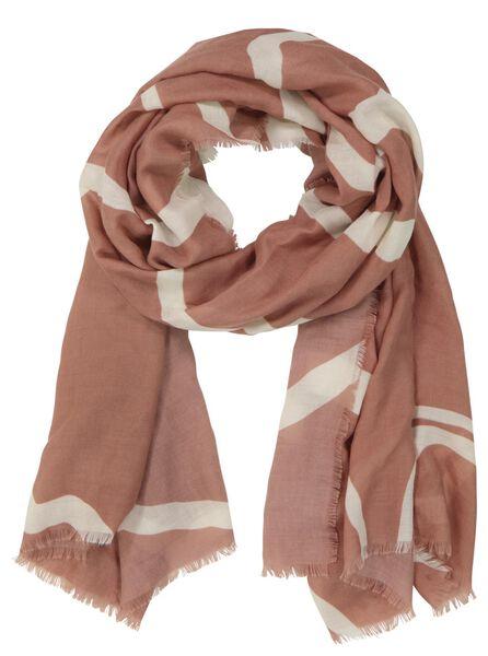 damessjaal 200x80 zebra roze - 1780034 - HEMA