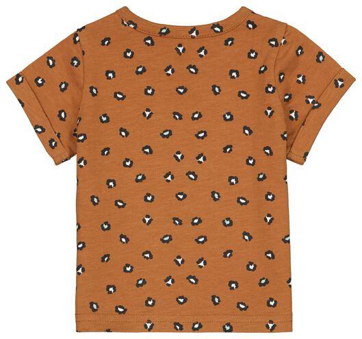 newborn t-shirt animal bruin - 1000024083 - HEMA