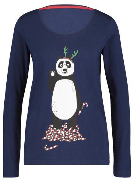 dames pyjama kerst donkerblauw donkerblauw - 1000017439 - HEMA